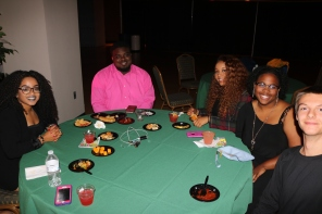 Brooklyn Brown, Juma Martin, Jahnae Waters, Kierra Donald, and Mark at the Cabaret event