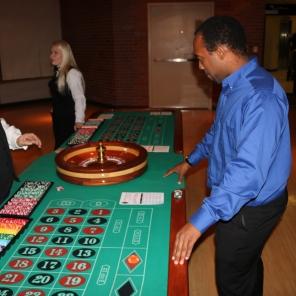 Cahlil Bush enjoying the at the casino