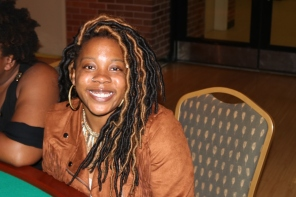 LaTasia Jones at the Cabaret event